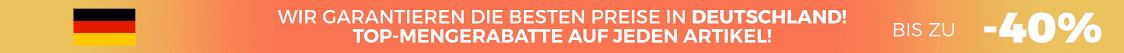 Wir garantieren die besten Preise in Deutschland Top-Mengerabatte auf jeden Artikel! Bis zu -40%